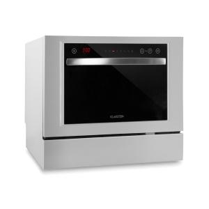 Klarstein Amazonia 6 Luminance Dishwasher Glass Front Freestanding 1380W White