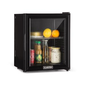 Klarstein Brooklyn 24L Refrigerator A LED Plastic Insert Glass Door Black