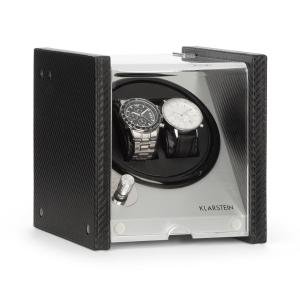 Klarstein Tokyo 2 Watch Winder, 2 Watches, 3 Speeds, 4 Modes, Black