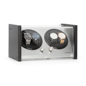 Klarstein Tokyo 4 Watch Winder, 4 Watches, 3 Speeds, 4 Modes, Black
