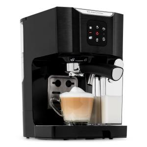 Klarstein BellaVita Coffee Machine, 1450 W, 20 Bar, Milk Frother, 3-in-1, Black