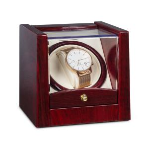 Klarstein Cannes Watchwinder 1 Watch Clockwise / Counterclockwise Running 2160 TPD Rosewood Look