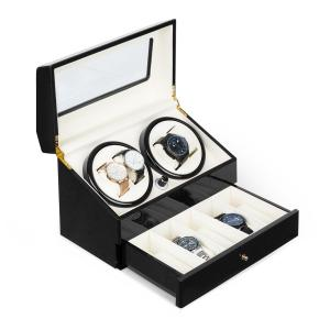 Klarstein Geneva Watch Winder 4 Watches 4 Modes Drawer Black