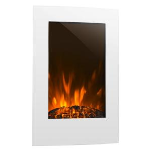 Klarstein Lausanne Vertical Electric fireplace 2000W Weekly Timer White