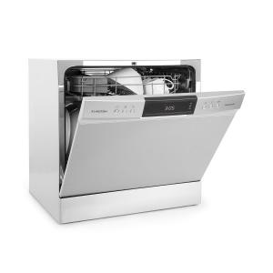 Klarstein Amazonia 8 Neo Tableware Dishwasher 8 Programmes LED Display Silver
