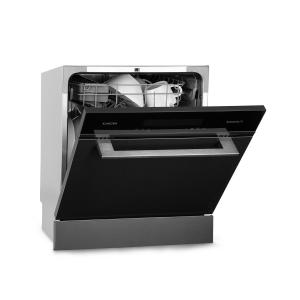Klarstein Amazonia 8 Myst Built-in Dishwasher 6 Programmes Stainless Steel Black