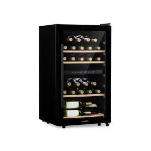 Barossa 29D Wine Fridge 2 Zones 34 Bottles Glass Door Touch Black