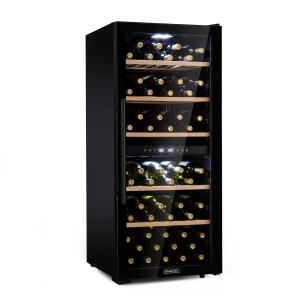 Barossa 102D Nevera para vinos 2 zonas 102 botellas Touch LED Negro