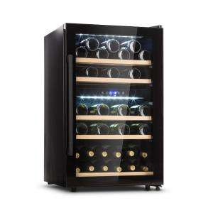 Barossa 40D Wine Fridge 2 Zones 135 L 41 Bottles Glass Door Touch