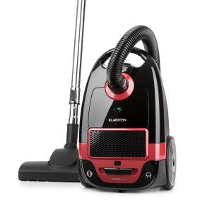 Klarstein Mister Eco Vacuum Cleaner 450W HEPA13 EEC-A ++ Black / Red