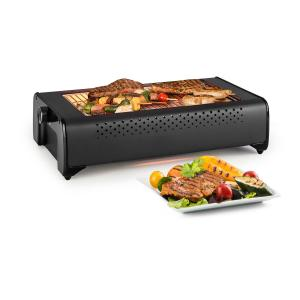Klarstein Infragrill Electric Grill Infrared 1500W Low Smoke Black
