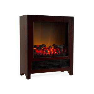 Klarstein Zermatt Electric Fireplace 750/1500 W Thermostat InstFire Wenge