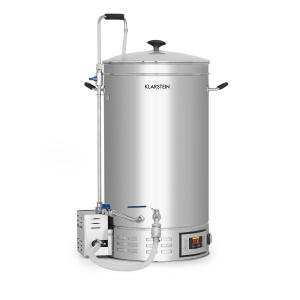 Klarstein Brauheld Mash Kettle 45 Litres 30-140 ° C Circulating Pump Stainless Steel
