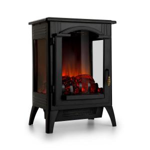 Klarstein Graz Electric Fireplace 1000 / 2000W Thermostat PanoramaView Black