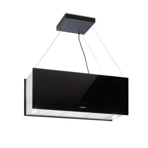 Klarstein Kronleuchter XL Island Exhaust Hood 90cm Exhaust Air: 590m³ / h LED Touch Black