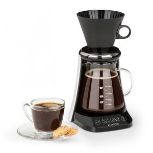 craft coffee Kaffeebereiter | TraditionalBrewing Concept | eingebaute Waage | Timer | LED-Display | Filterhalter | Glaskanne mit Messskala | max. Füllmenge: 600 ml | benötigte Batterien: 3 x AAA | schwarz/weiß