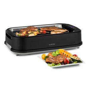 Klarstein Köfte Electric Grill 1500W Touch Control Panel Water Collecting Tray Black