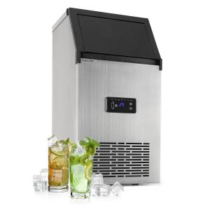 Klarstein Glacial XL Professional Ice Cube Machine 38kg / d 15l LED Stainless Steel Black