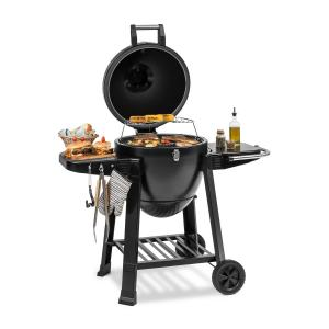Klarstein Duomo Kamado Grill with Thermometer Side Panels Wheels