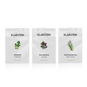 Klarstein GrowIt Seeds Asia | 3 Seeds: Coriander, Thai Basil, Garlic Chives