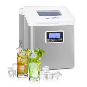 Klarstein Clearcube LCD Ice Cube Machine Clear Ice 15-20kg / 24h White