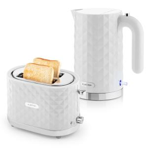 Granada Bianca Breakfast Set2000W Kettle | 1000W Toaster | white