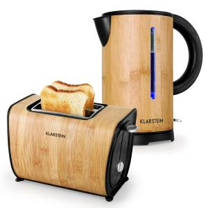 Bamboo Garden Breakfast Set Small Kettle |Toaster | Bamboo