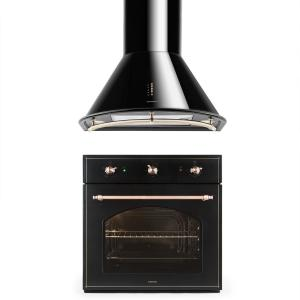 Vilhelmine and Lumio Primo Set Oven Extractor Hood Black
