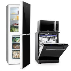 Luminance Set Frost Refrigerator Freezer Combination Microwave Dishwasher