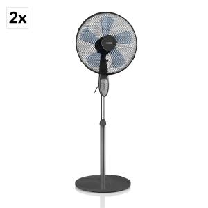 Summerjam Stand Fan 2-pc Set 50W 3 Steps Grey