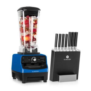 Klarstein Herakles 3G Kitano power blender & messenset 1500W zonder BPA 2L/7 messen