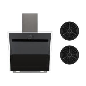 Klarstein Sabia 60 Cooker Extractor Hood 60cm Including 2 x Activated Carbon Filters Black