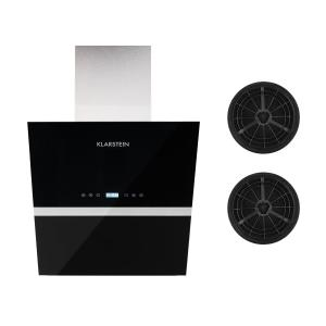 Klarstein Aurea VII Cooker Extractor Hood Recirculation Set 60cm Activated Carbon Filter Black