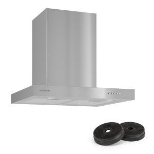 Klarstein Zarah Cooker Extractor Hood 60cm Recirculation Set 620 m³ / h Activated Carbon Filter