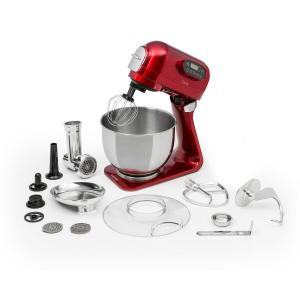 Klarstein Curve Plus Food Processor Set | 5l | 4-in-1 Meat Grinder | Red