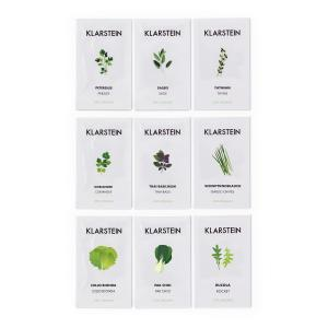 Klarstein GrowIt Seeds Set de graines 9 herbes : 3x Asie 3x Europe 3x Salade