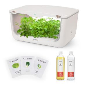 Klarstein GrowIt Farm Starter Kit Salad 28 Plants 48W 8Ltr Asia Seeds Nutrient Solution