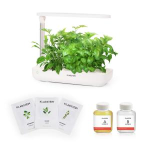 GrowIt Flex Starter Kit II Smart Indoor Garden Set |  9 Stecklinge | Wassertank: 2 Liter | 18 W Full-Spectrum LED-Beleuchtung | DaylightSimulation System: automatisches Ein- und Ausschalten der Beleuchtung | inkl. Nutri-Kit 60 Nährlösung & Europe-Seeds