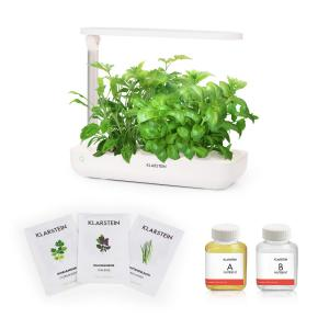 GrowIt Flex Starter Kit III Smart Indoor Garden Set | 9 Stecklinge | Wassertank: 2 Liter | 18 W Full-Spectrum LED-Beleuchtung | DaylightSimulation System: automatisches Ein- und Ausschalten der Beleuchtung | inkl. Nutri-Kit 60 Nährlösung & Asia-Seeds