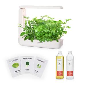 Klarstein GrowIt Cuisine Starter Kit Salad 12 Plants LED Salad Seeds Nutrient Solution