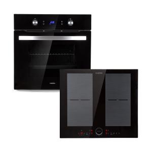 Klarstein Gusteau Delicatessa ensemble four à induction encastrable 7000 W noir inox