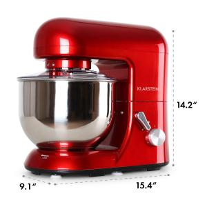Bella Rossa kitchen machine 1200W 1.6 HP 5.5 qt. Red