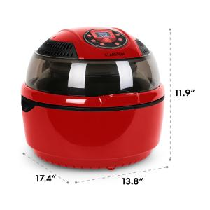 VitAir Hot Air Deep Fryer Red 1400 W Fry Grill Bake 9.5 qt.