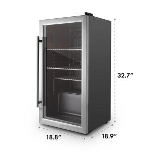 Beersafe XXL Beverage Cooler 2.9 cft. Glass Door Stainless Steel