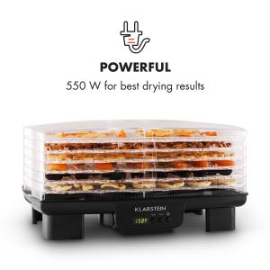 Bananarama Food Dehydrator black 550W Dryer Dehydrator 6 Levels