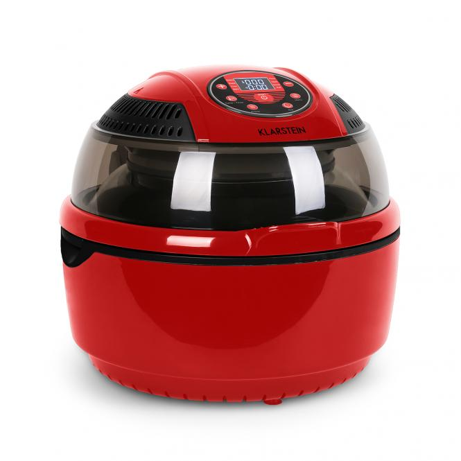VitAir Hot Air Deep Fryer Red 1400 W Fry Grill Bake 9.5 qt. Red