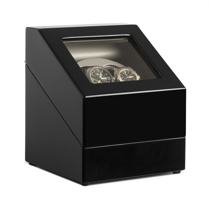 watchwinder coffret remontoir 2x montres automatiques noir 2 montres klarstein. Black Bedroom Furniture Sets. Home Design Ideas