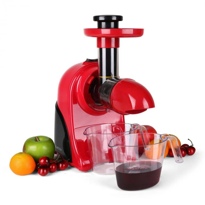 Slow Juicer Klarstein : Fruitpresso Rosso Slow Juicer 150W 80 Rpm Red Red Klarstein