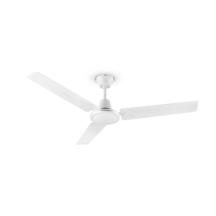 Spin doctor ceiling fan 122cm 55w 3 blades stainless steel white spin doctor ceiling fan aloadofball Gallery