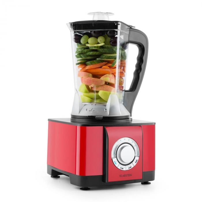 souprano mixeur multifonction blender chauffant 800w 1 25 l rouge klarstein. Black Bedroom Furniture Sets. Home Design Ideas
